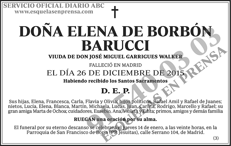 Elena de Borbón Barucci